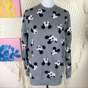 Disney Grey Mickey Mouse Crewneck Sweater Medium